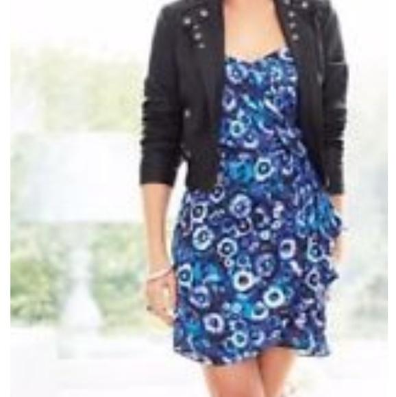 4eabf6601297 LC Lauren Conrad Dresses | Price Drop Lauren Conrad Blue Floral ...